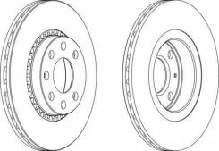 Тормозной диск передний OPEL ASTRA F CORSA B VECTRA A 93-00 Brembo 09.5527.24