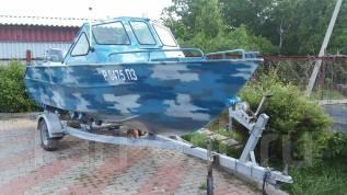 Эксклюзивная алюминиевая лодка Лазурный 18. Год: 2014 год, длина 5,50м., двигатель подвесной, 100,00л.с., бензин