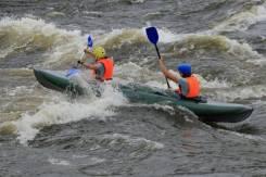 Надувная байдарка Хатанга-2, для сплавов, рыбалок, экспедиций. Россия. длина 4,20м.