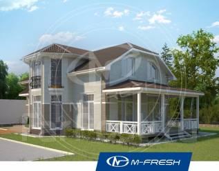 M-fresh B!g Lord-зеркальный (В доме накрытая терраса! ). 200-300 кв. м., 2 этажа, 5 комнат, бетон