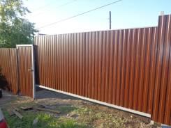 Забор из профлиста от 2000 р/м, откатные ворота от 35 000р.