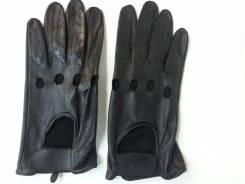 Перчатки водительские кожаные черные арт ZX3