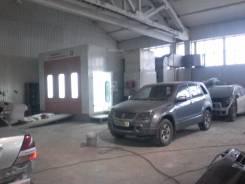 Оборудованный кузовной цех в автокомплексе. 500 кв.м., улица Строительная 20, р-н Индустриальный