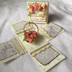 Открытка-коробочка ручной работы - С Днем Свадьбы!