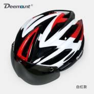 Шлем велосипедный с защитными стеклами Rockbros, идеальный под очки.