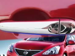 Хромированные накладки на ручки автомобилей Nissan (2010-on). Nissan Juke Nissan March