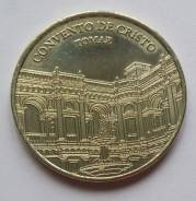"""Португалия. Сувенирная монета """"Томар - замок тамплиеров"""" №2"""