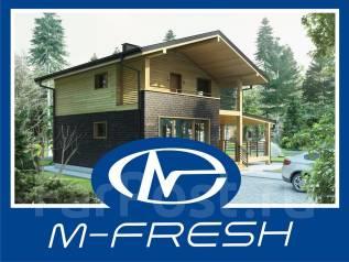 M-fresh Compact (Проект дома для свежей жизни на природе! ). 100-200 кв. м., 1 этаж, 3 комнаты, комбинированный