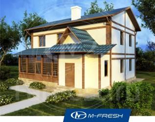M-fresh Japan style (Интересная крыша, дом с верандой! ). 200-300 кв. м., 2 этажа, 4 комнаты, бетон