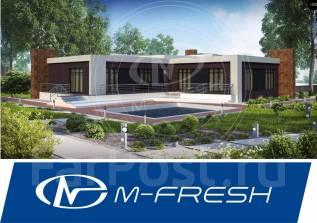 M-fresh Harley Dav!dson Mini (Проект дома с плоской крышей). 200-300 кв. м., 1 этаж, 7 комнат, дерево