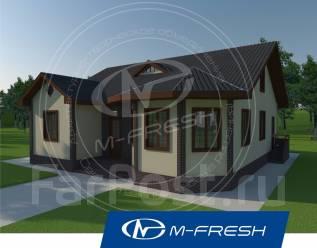 M-fresh Organic (Готовый проект одноэтажного дома с эркером! ). 100-200 кв. м., 1 этаж, 4 комнаты, дерево