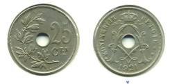 Старая Бельгия 25 сантимов 1921 года (иностранные монеты)