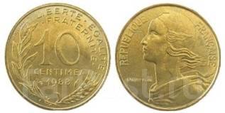 10 сантимов Франция (иностранные монеты)