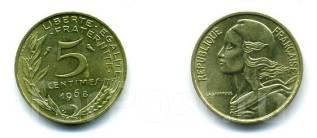 5 сантимов Франция (иностранные монеты)
