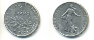 1 франк Франция (иностранные монеты)