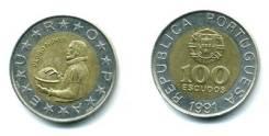 Португалия 100 эскудо 1991 (биметалл) (иностранные монеты)