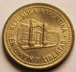 Аргентина 50 сентаво 2010 года (иностранные монеты)