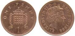 1 пенни Великобритания (иностранные монеты)