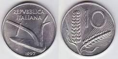 10 лир Италия (иностранные монеты)