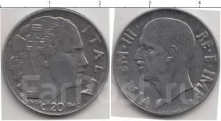 Фронтовая Италия 20 чентизимо 1940 года (иностранные монеты)