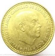 1 песета 1966 Испания (иностранные монеты)