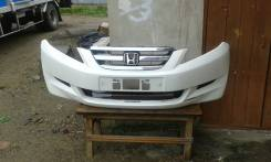Продам передний бампер на хонду эдикс ВЕ1 2004г + фары, радиатар. Honda Edix