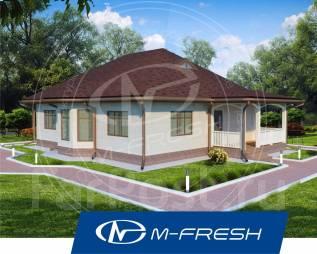 M-fresh Legend-зеркальный (проект 1-этажного дома). 100-200 кв. м., 1 этаж, 4 комнаты, бетон