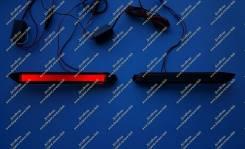 Неоновые катафоты в бампер Lexus NX200, NX200t, NX300h (Лексус) Дымчатые