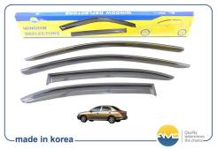 Дефлекторы окон (ветровики) комплект 4шт Kia Rio 2000-2005г седан, кузов DC