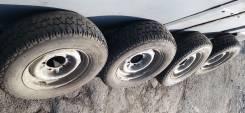 Колеса R14, штампованные диски на летней резине 205/70 Волга 31029/ 24. 5.5x14 5x139.70 ET6 ЦО 110,0мм.