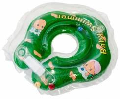 Круг для купания 3-12 кг. Зеленый Полуцвет +внутри погремушка, кор.
