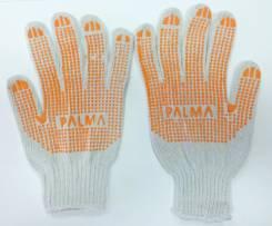 Перчатки рабочие х/б с резиновой крошкой, Россия