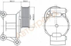 Натяжитель приводного ремня FORD FOCUS II/C-MAX 1,8-2,0 03-/MAZDA 3/5 1,8-2,0 05-/VOLVO 1,8-2,0 04- SAT ST-LF50-15-980