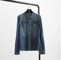 Рубашки джинсовые. 44, 46, 48, 50