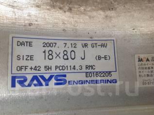 RAYS VOLK RACING. 8.0x18, 5x114.30, ET42