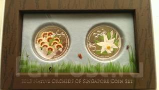 Набор монет Сингапура серия орхидеи 2013