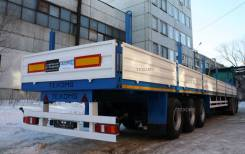 Техомs. Бортовой полуприцеп 30 тонн 3-х осный односкатный, 30 000 кг.