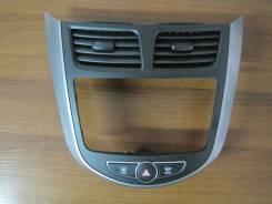 Консоль панели приборов. Hyundai Solaris, RB Двигатели: G4FA, G4FC