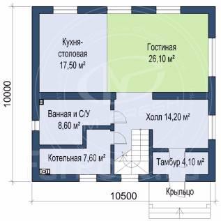 M-fresh Jasmin Blues (В доме три спальни и гостиная! ). 200-300 кв. м., 2 этажа, 4 комнаты, бетон