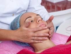 Косметический массаж лица.