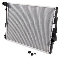Радиатор охлаждения двигателя. BMW Z4, E85 BMW 3-Series Двигатели: M52TUB25, M43B19, M54B30, N42B20, M54B22, M54B25, M52TUB28