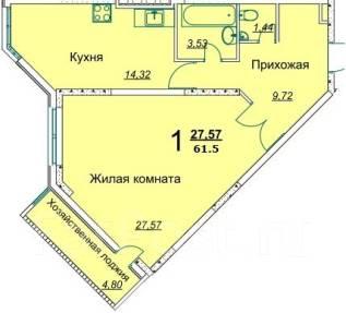 1-комнатная, улица Промышленная 2. Южный рынок, агентство, 60 кв.м.