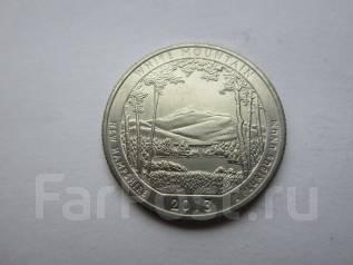 США 25 центов (квотер) 2013 года. Национальный парк Белые горы. Денвер.