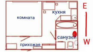 1-комнатная, улица Никифорова 45. Борисенко, частное лицо, 29 кв.м. План квартиры
