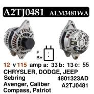Генератор. Jeep Renegade Dodge Challenger Двигатели: CHRYSLER, 2, 4, TIGERSHARK, HELLCAT, HEMI, HEMI392