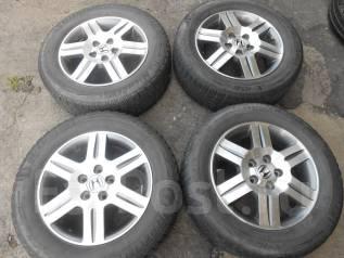 Литые диски R16 Honda Enkei с шинами 205/65R16. 6.0x16 5x114.30 ET50