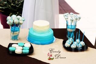 Торты, капкейки, кейкпопсы на детский праздник. Декор сладкого стола
