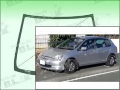 Лобовое стекло Honda CIVIC 2000-2005 (5d-EU/S6A) (Зеленоватый оттенок с зеленым козырьком, Бренд:ВSG)