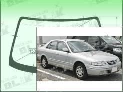 Лобовое стекло Ford TELSTAR 1997-1999 (GF/GW) пятак-зерк (Зеленоватый оттенок с зеленым козырьком, Бренд:ВSG)