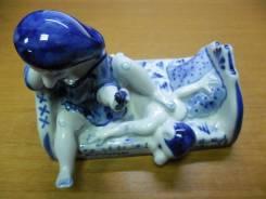 """Веселая эротическая скульптура """"сорокпервый"""" фарфор Галактика Гжель. Оригинал"""